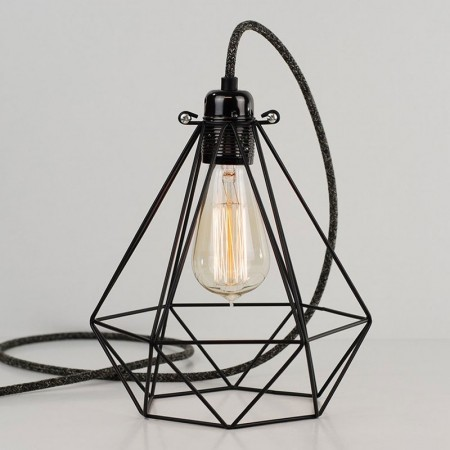 Diamond Cage Lamp (Jet Black) - Red Candy