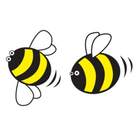 Bumblebee Wall Sticker Set - Red Candy