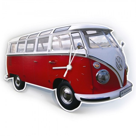 VW Campervan Wall Clock (Red) - Red Candy