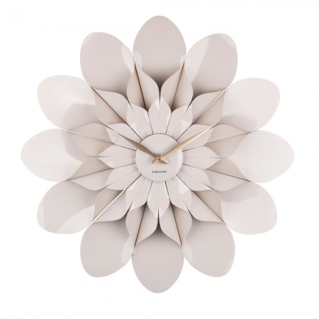 Flower Power Wall Clock - Grey - Red Candy