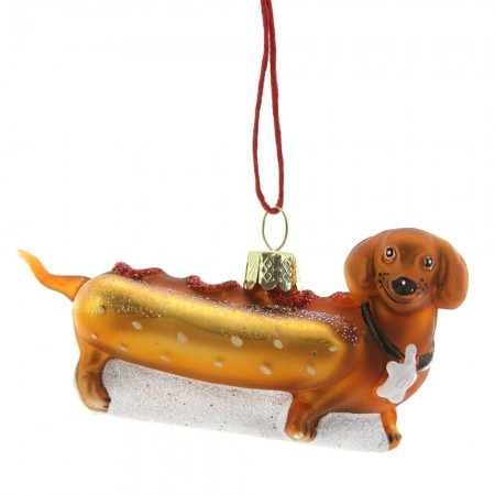 Weiner Pup Hot Dog Bauble - Red Candy