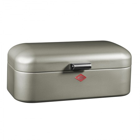 Wesco Grandy Bread Bin (New Silver) - Red Candy