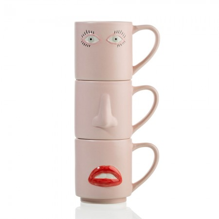 Why the Long Face Mug Set - Red Candy