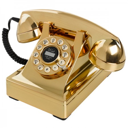 Wild & Wolf 302 Desk Phone (Gold) - Red Candy