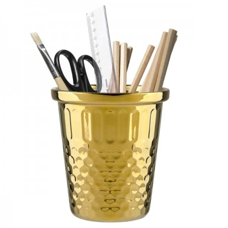 Giant Thimble Desk Tidy (Gold) - Red Candy