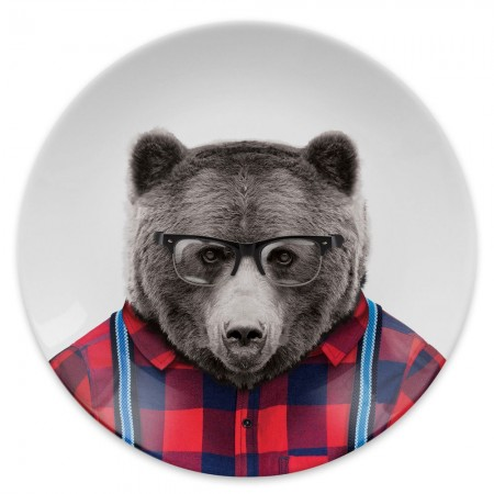 Wild Dining Plate (Bear) - Red Candy