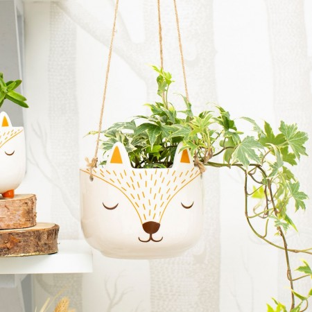 Woodland Fox Hanging Planter - Red Candy