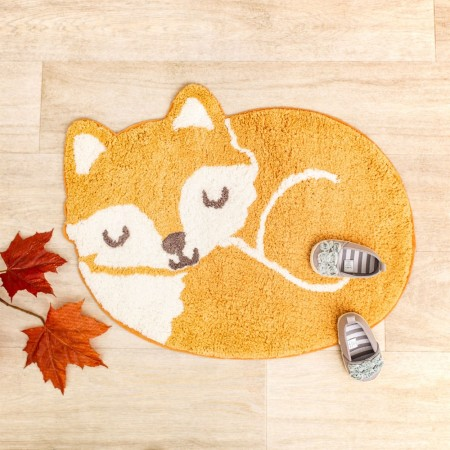 Woodland Fox Rug - Red Candy