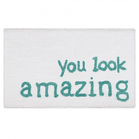 You Look Amazing Bath Mat - Red Candy