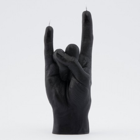 Rock! Candle Hand (Black) - Red Candy