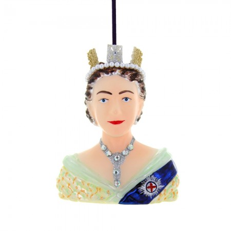 Young Queen Elizabeth Bauble - Red Candy