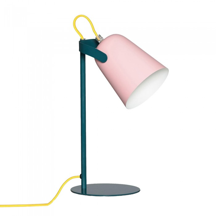 Pink and Green Table Lamp