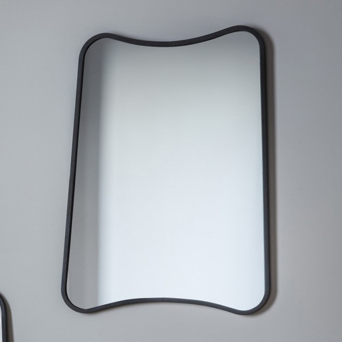 Abstract Black Rectangular Mirror - 61 x 81cm