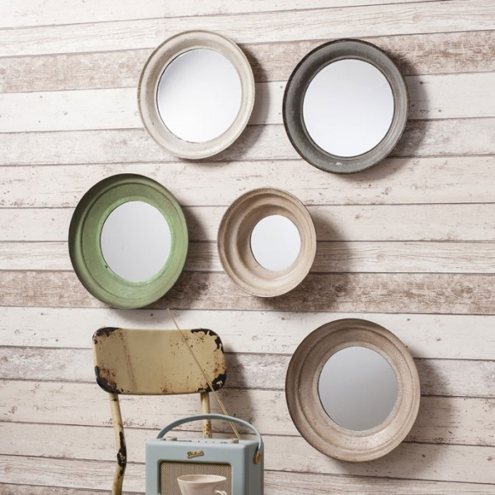 Contemporary Round Mirrors - Set of 5