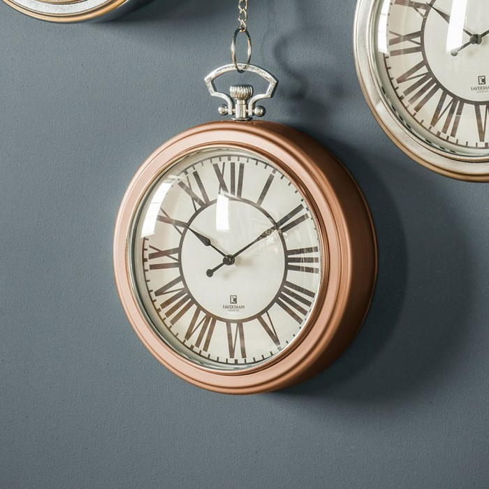 Hanging Chain Copper Wall Clock