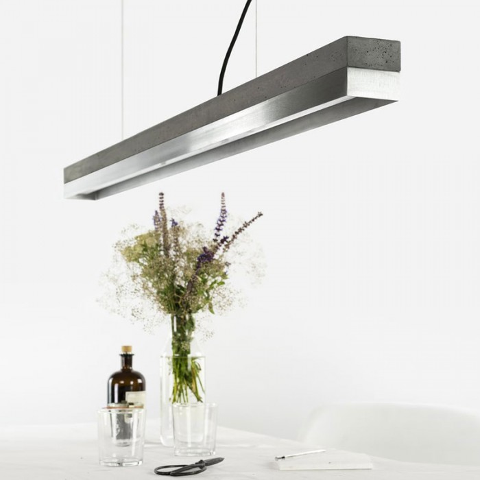C1 Strip Pendant Light - Charcoal & Stainless Steel