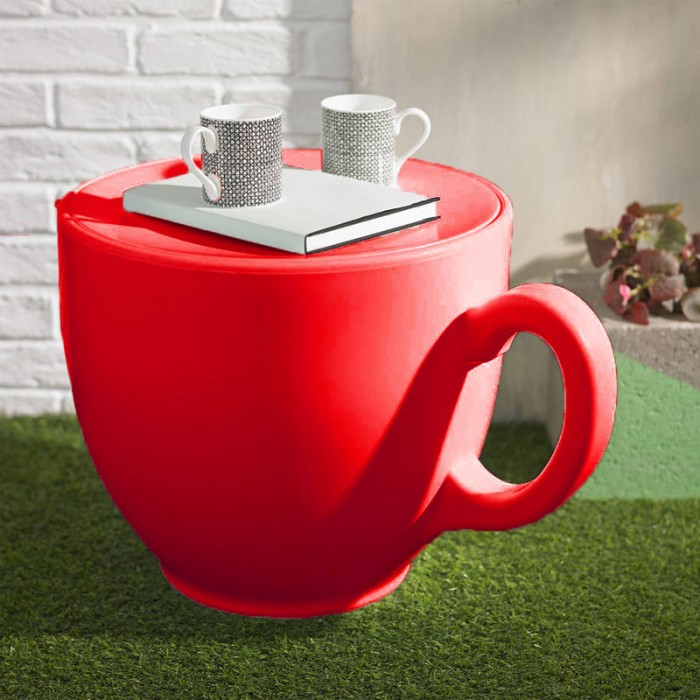 Tea Cup Stool - Red