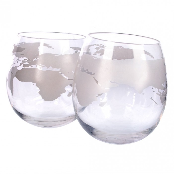 Globe Rocker Glasses - Set of 2