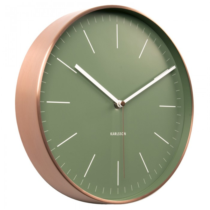 Karlsson Minimal Copper Clock - Green