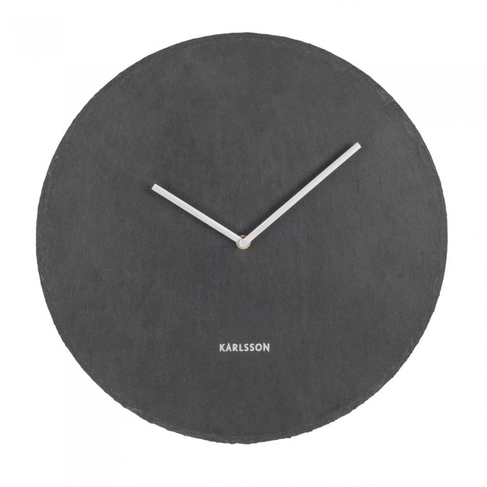 Karlsson Slate Wall Clock - Black