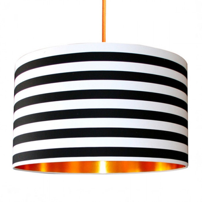 Fabric Lampshade - Circus Stripes & Gold