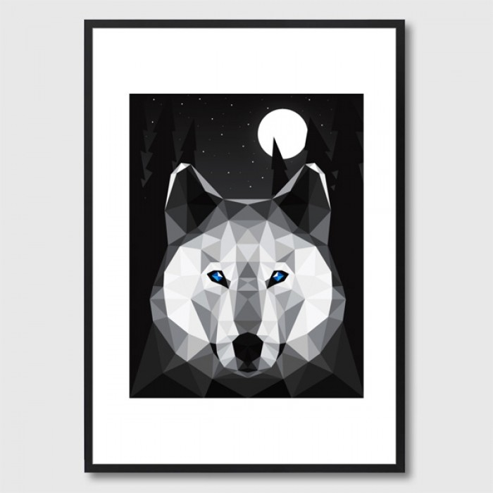 The Tundra Wolf Framed Print