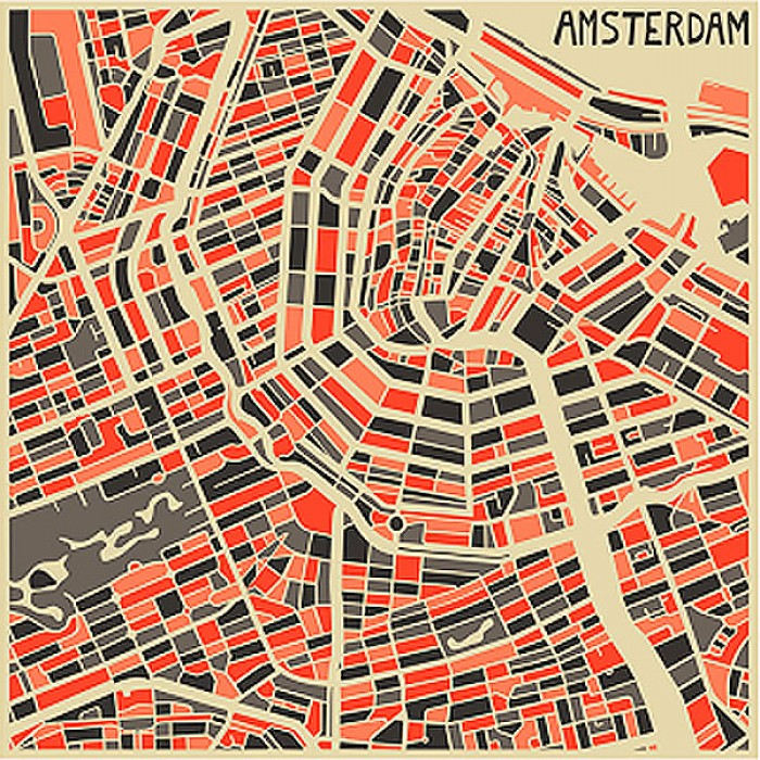 picture about Printable Map of Amsterdam named Amsterdam Map Framed Print