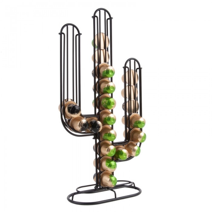 Cactus Coffee Capsule Holder - Black