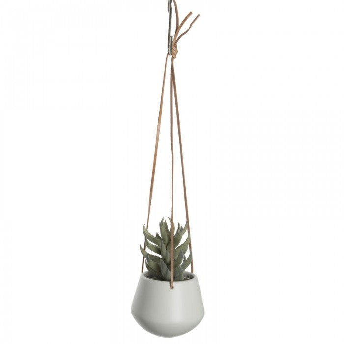 Skittle Small Hanging Plant Pot - White