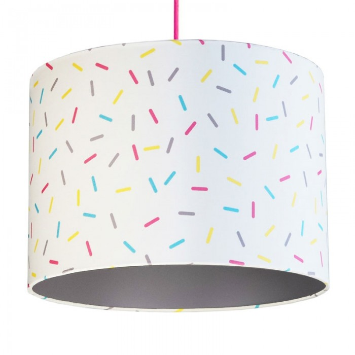 Multi-Colour Sprinkles Lampshade - Grey