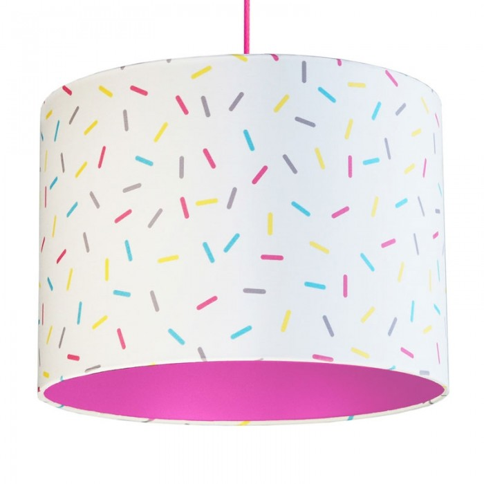 Multi-Colour Sprinkles Lampshade - Pink