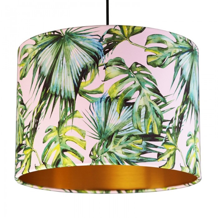 Tropical Lampshade - Blush & Gold