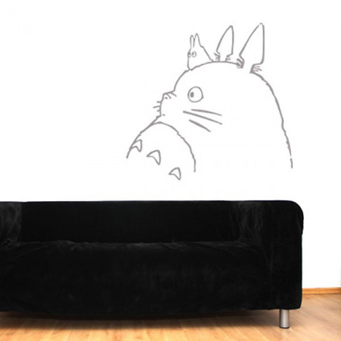 totoro 2 wall sticker - red candy