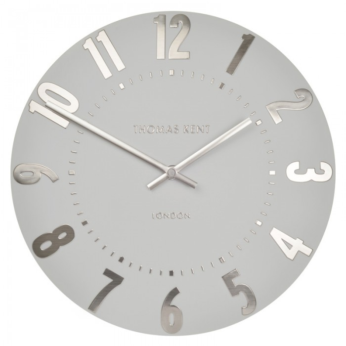 Thomas Kent Mulberry Clock Silver Cloud - 20 Inch