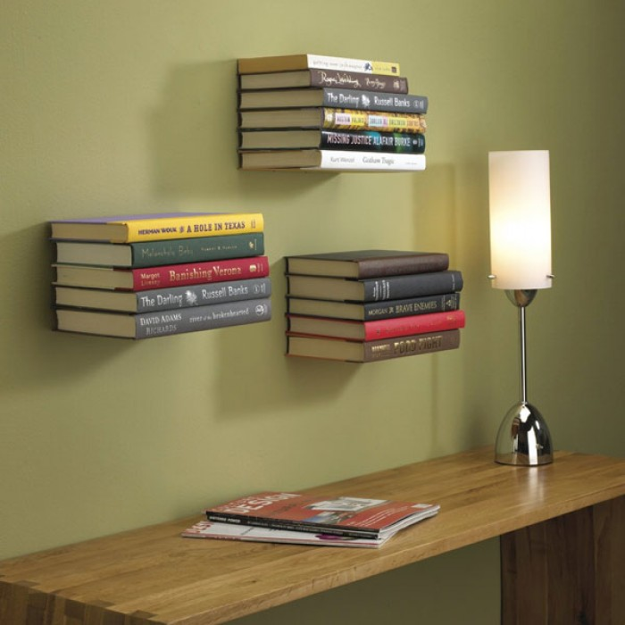 umbra conceal bookshelf small red candy rh redcandy co uk Floating Shelves for Electronics Floating Shelf for Electronics