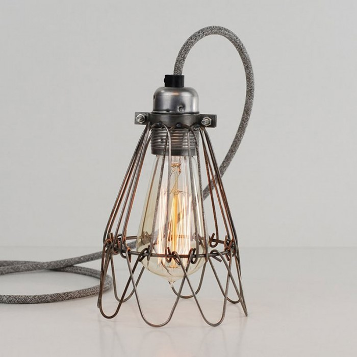 Flower Cage Lamp - Raw Steel