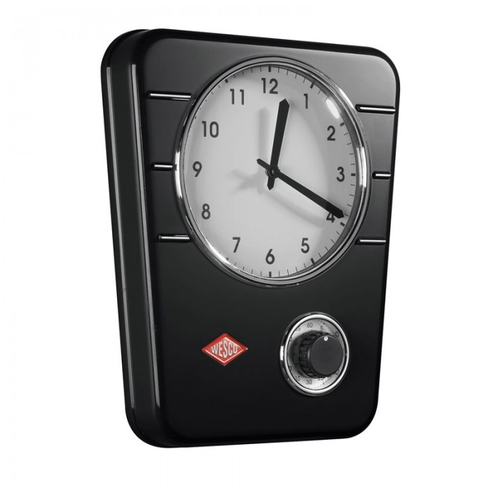 Wesco Classic Line Kitchen Clock - Black