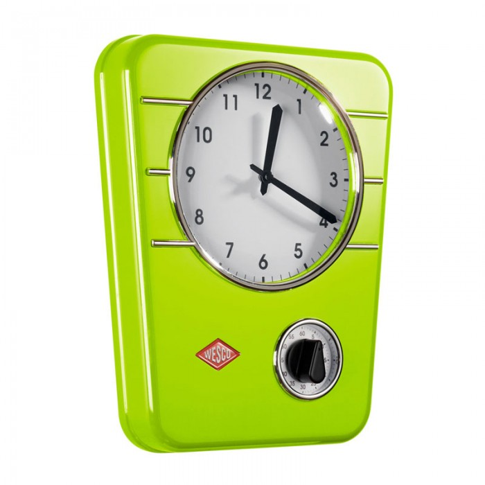 Wesco Classic Line Kitchen Clock - Lime Green