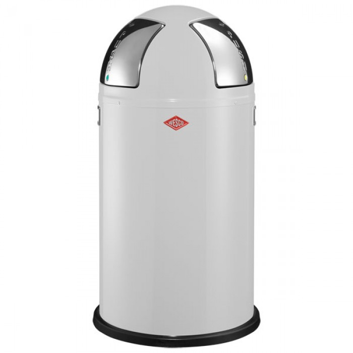 wesco push two recycling bin white red candy. Black Bedroom Furniture Sets. Home Design Ideas