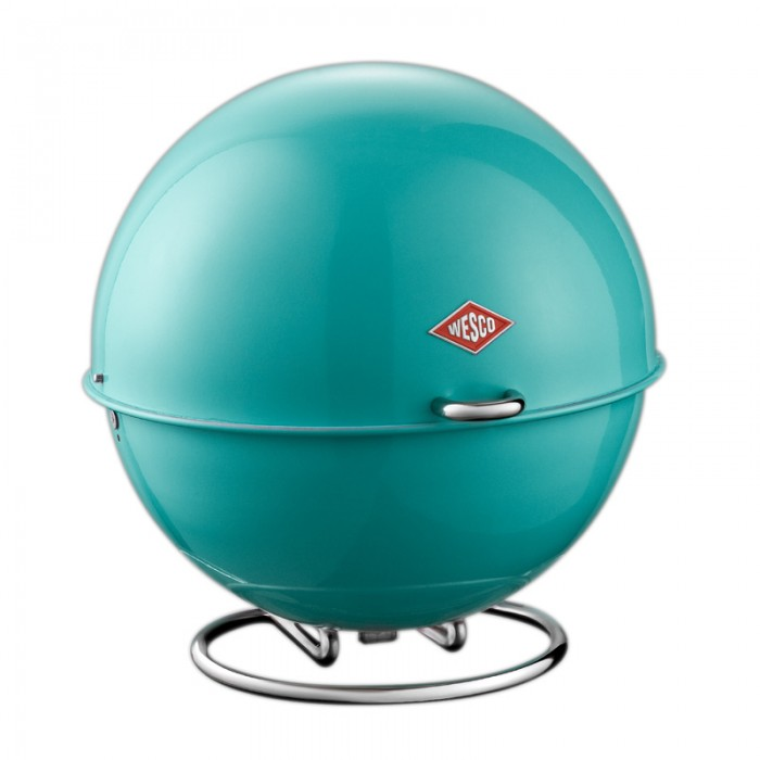 Wesco Superball Bread Bin - Turquoise