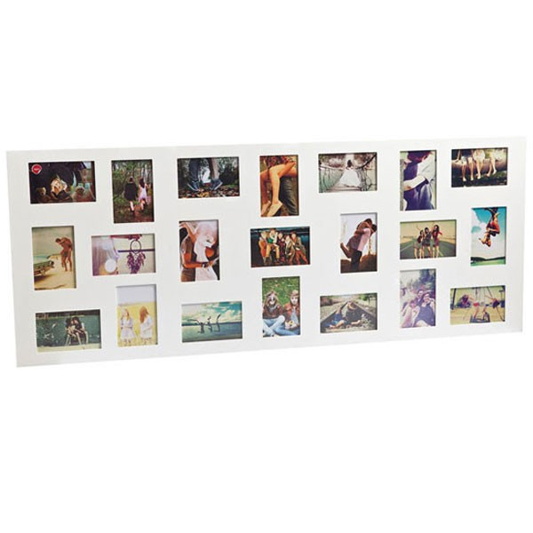 flat face 21 multi photo frame large white collage picture frame - Multiple Image Frame