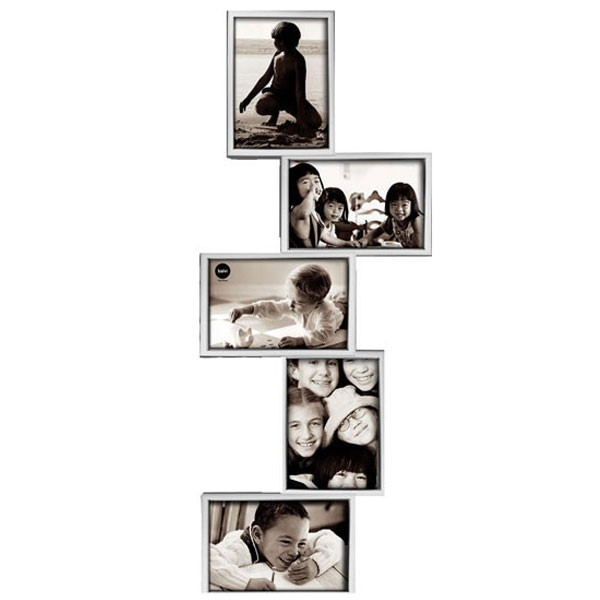 isernia tower multi frame silver multiple photo display