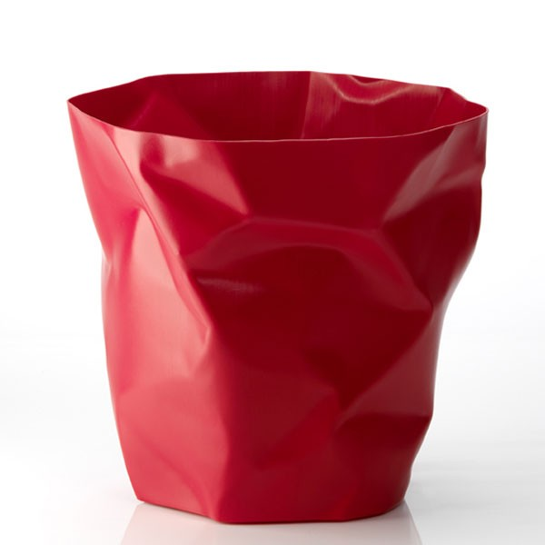 Guzzini Plisse Waste Paper Bin - modern office bin from Red Candy