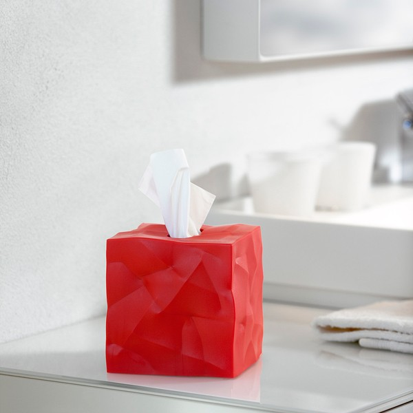 Essey Wipy Cube Tissue Box Red Funky Tissue Holder