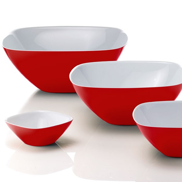 Guzzini Two Tone Bowl - funky red retro bowls - 4 sizes
