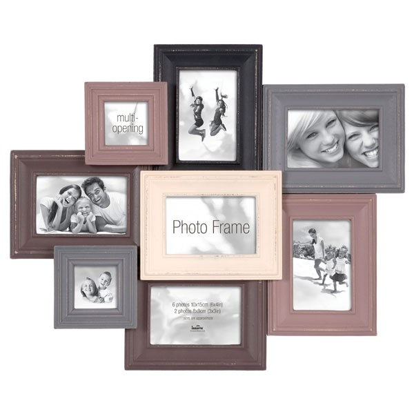 Layered Collection Picture Frame - black multi photo frame