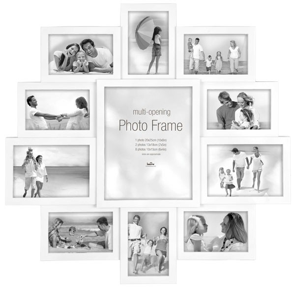 Maggiore Xxi Multi Photo Frame Large White Multi