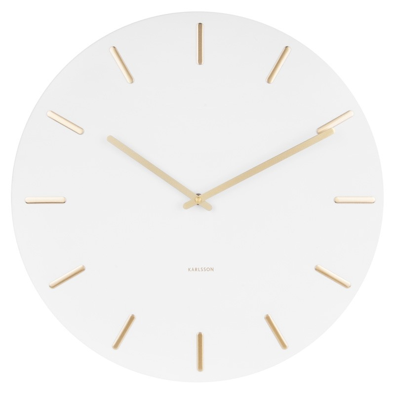 Karlsson Charm Wall Clock White Red Candy