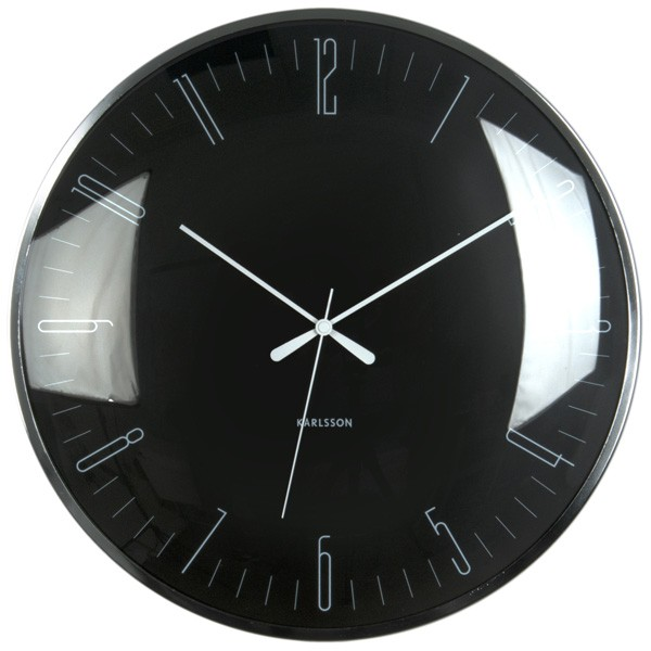 Karlsson Dragonfly Wall Clock Black Red Candy