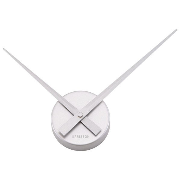 Nextime Hands Clock - a 9cm diameter wall clock from Red Candy